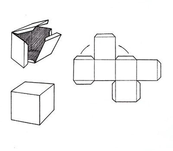 caixa de lembrancinha de papel simples