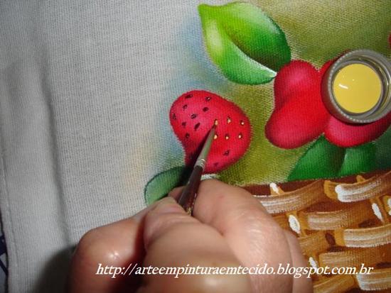 pintura em pano de prato como fazer