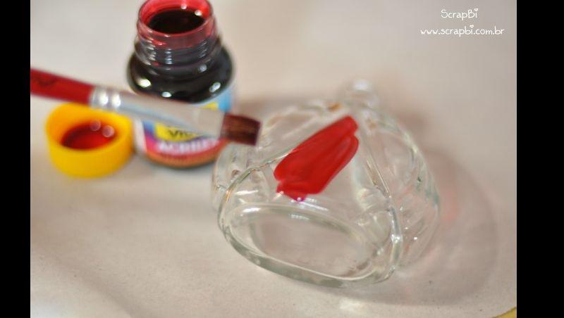 garrafa de vidro pintada tutorial