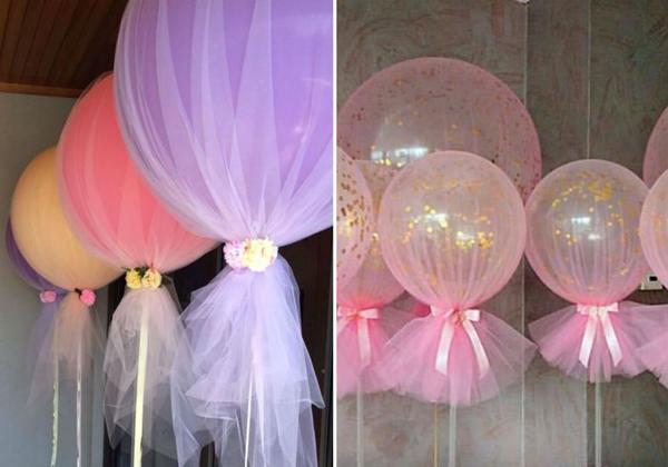artesanato com tule balão