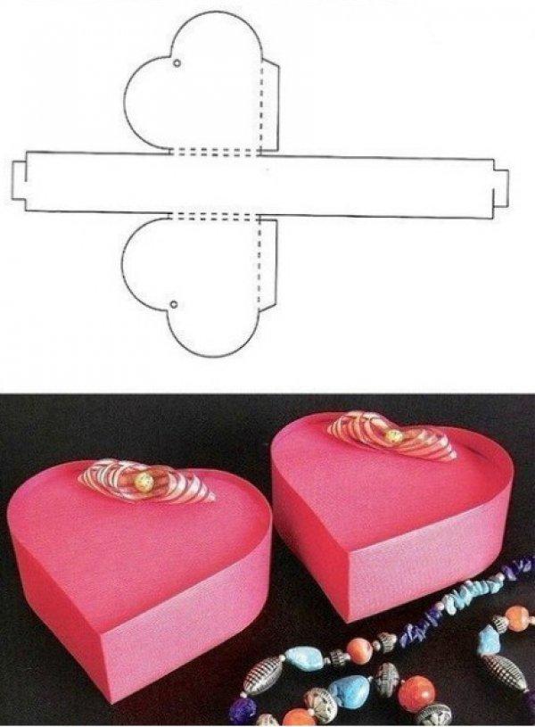 caixa de lembrancinha de papel coração