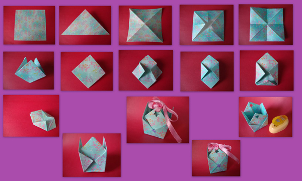 caixa de lembrancinha de papel estamapado