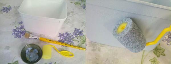 pintura de pote de margarina