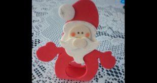 Papai Noel de EVA: Moldes