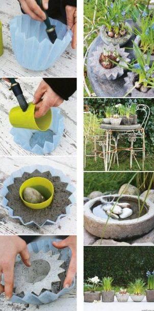 vaso de concreto com silicone