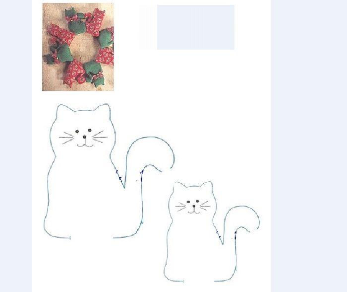 guirlanda infantil de feltro de gato