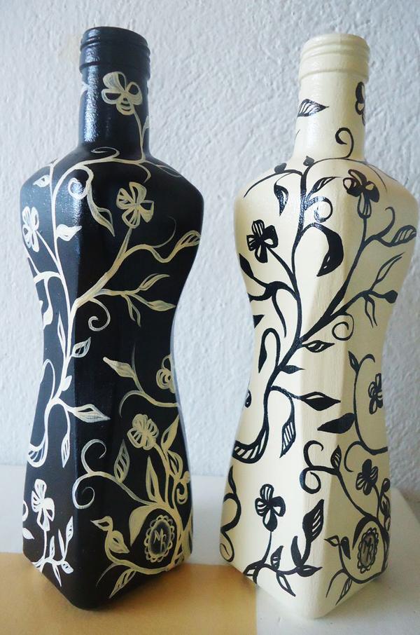 garrafa decorada pintada