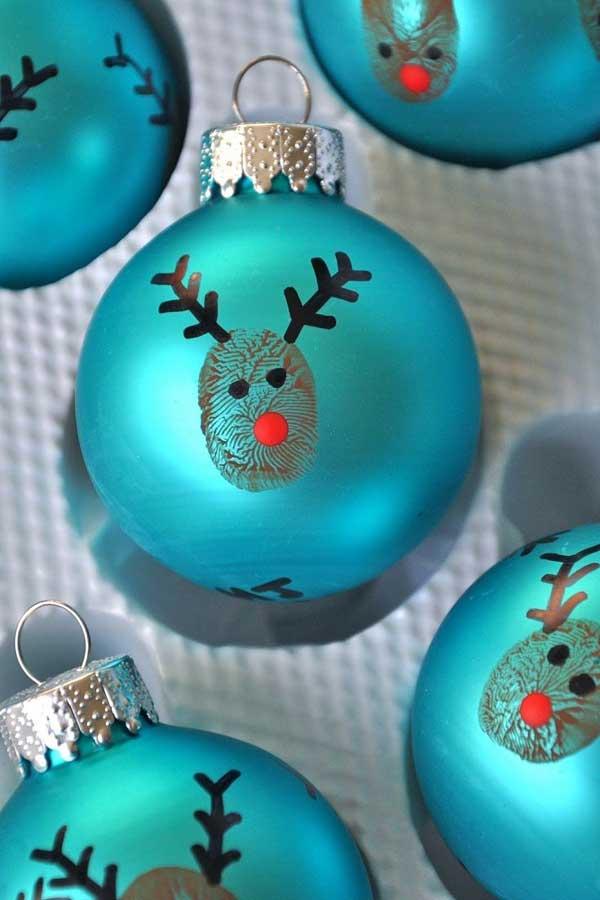 enfeite natalino com bola de natal