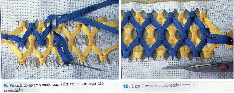 bordado com fitas como fazer