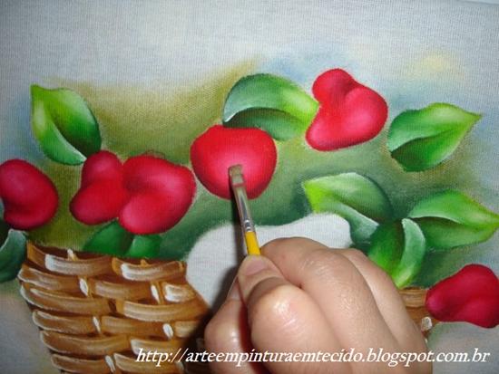 pintura em pano de prato tutorial