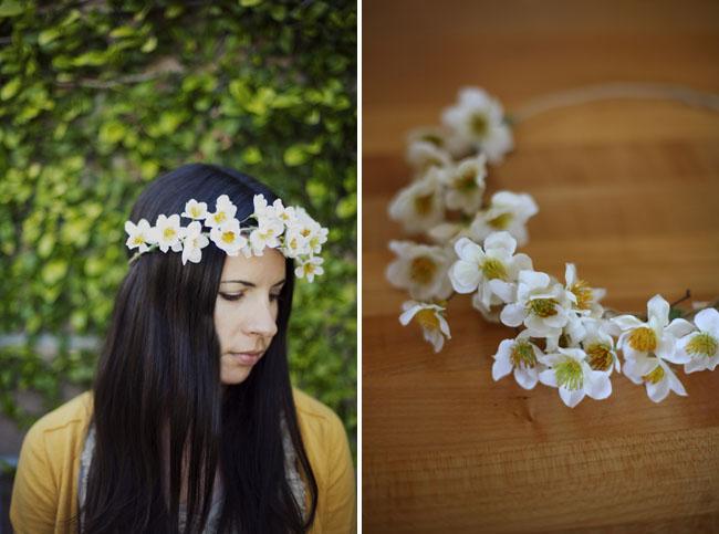 tiara com flor delicada