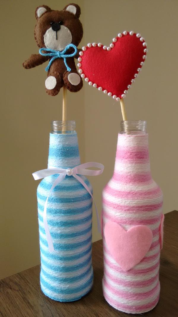 garrafa decorada para crianças