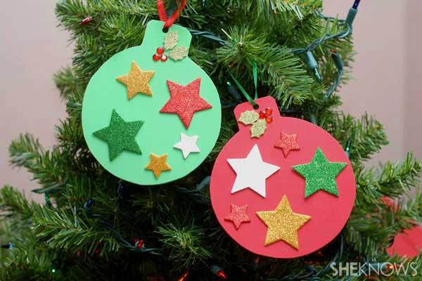 enfeite natalino com estrela
