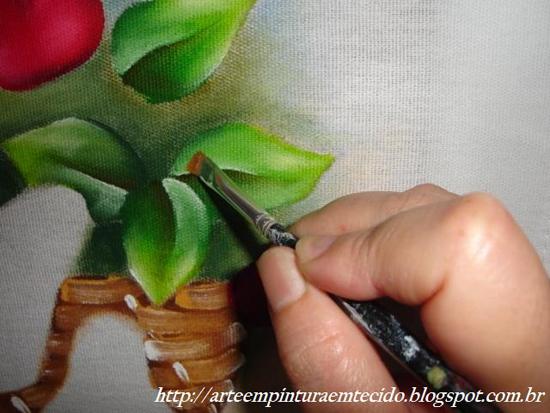 tutorial pintura em pano de prato