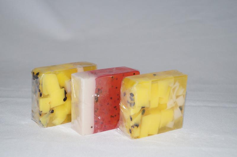 sabonete caseiro frutas