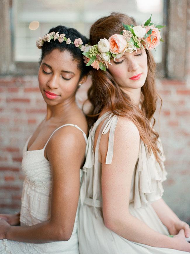 tiara com flor diversas