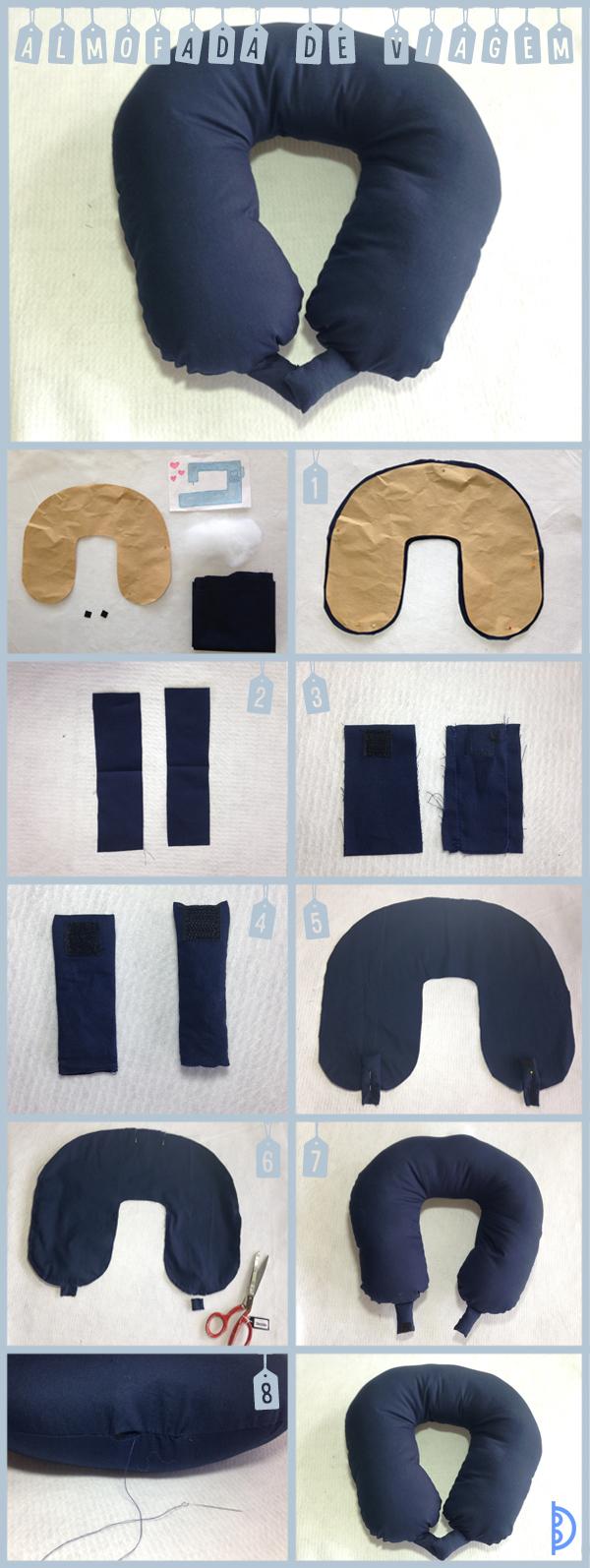 almofada artesanal de pescoço passo a passo