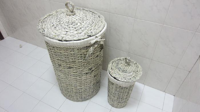 cestaria de jornal para banheiro