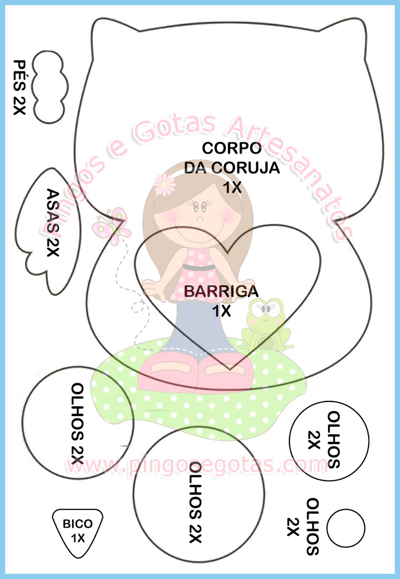 Molde De Coruja Para Aplique 23 Desenhos Para Imprimir