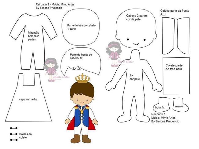 Pequeno príncipe de tecido