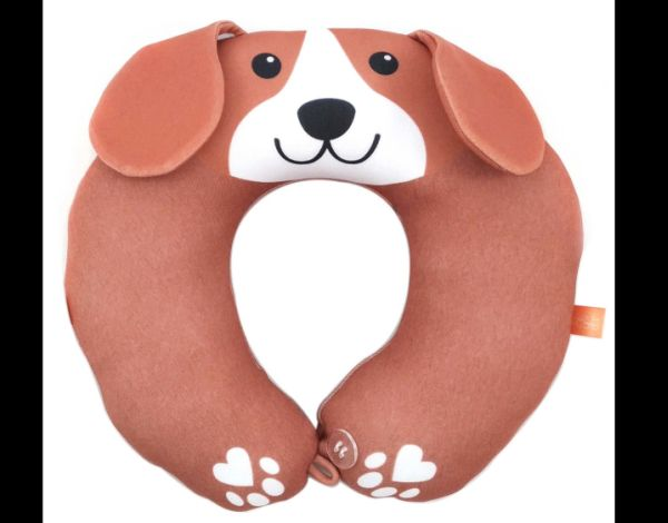 almofada artesanal de pescoço cachorro