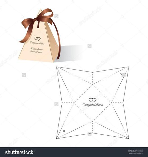 caixa de lembrancinha de papel piramide