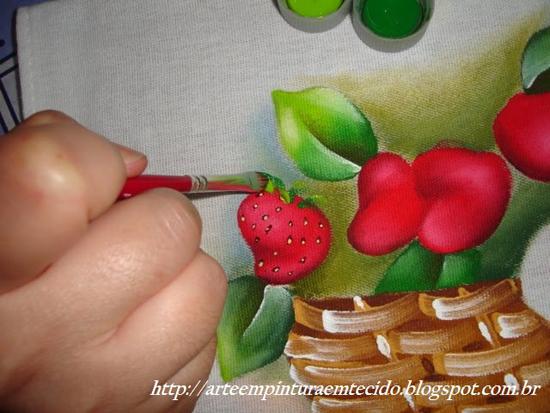 passo a passo pintura em pano de prato