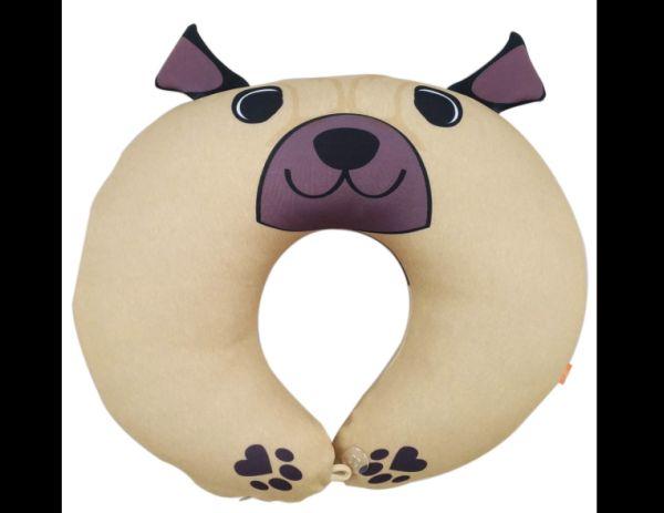 almofada artesanal de pescoço cão