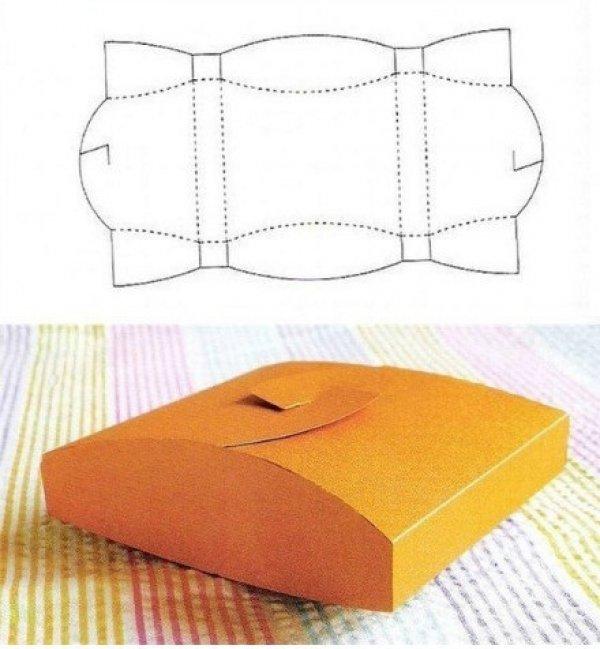 caixa de lembrancinha de papel amarela