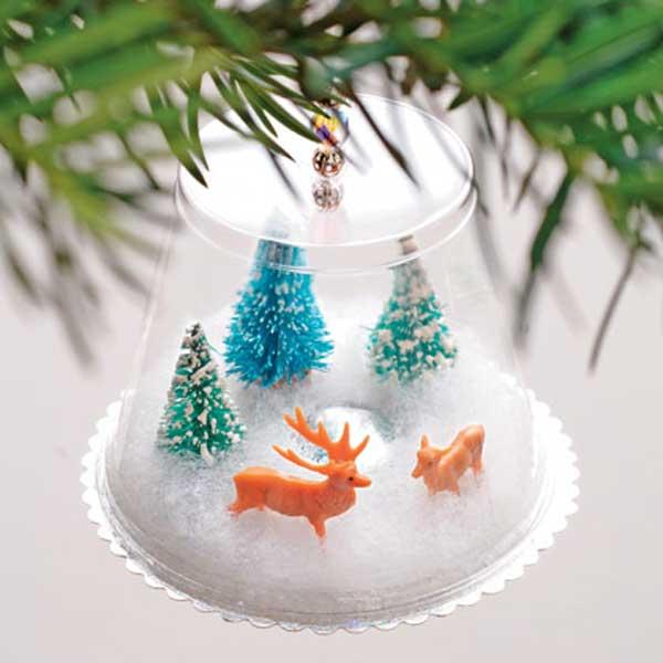 enfeite natalino com copo