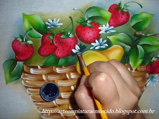 pintura em pano de prato facil