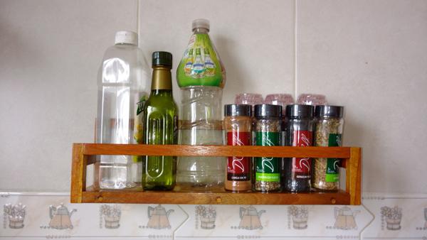 porta condimentos na parede