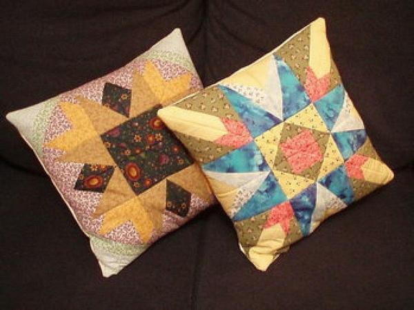 almofada de retalho de tecido