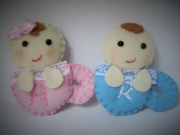 artesanato em feltro bebes