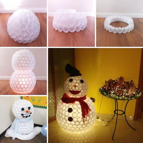 enfeite natalino boneco de neve