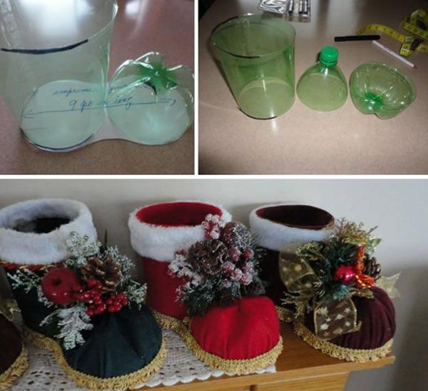 enfeite natalino bota