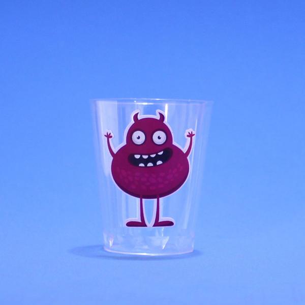 copo de vidro decorado com adesivo