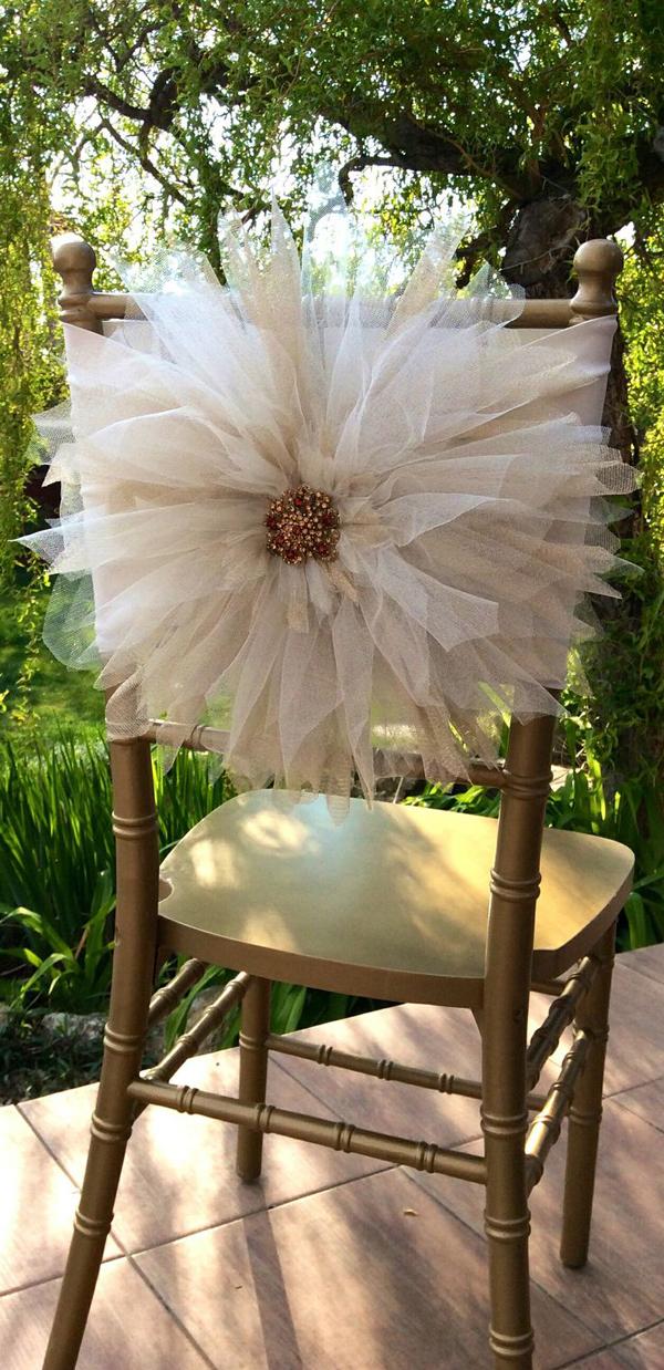 artesanato com tule flor