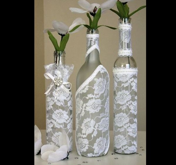garrafa decorada chique