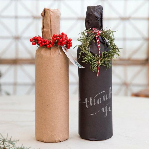 embalagem de presente para garrafa