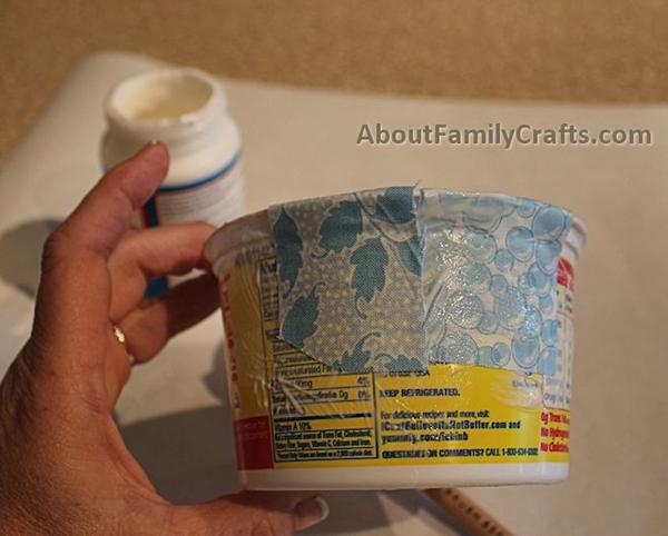 artesanato de pote de margarina