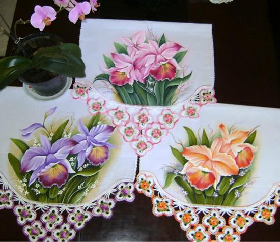 pintura em pano de prato lindo