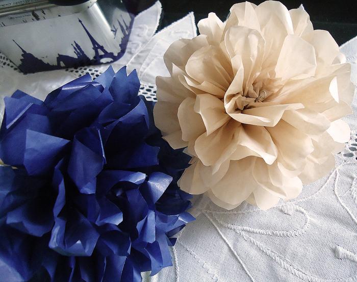 pompom de papel de seda luxo