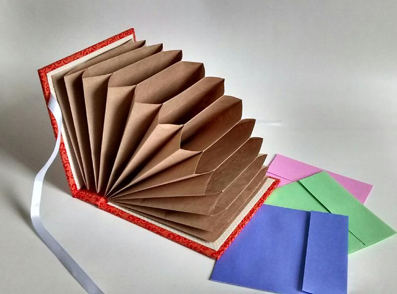 pasta artesanal sanfonada papel pardo