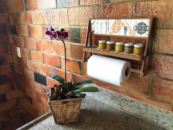 porta condimentos com prota papel