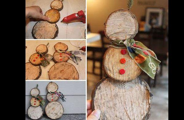 enfeite natalino com troncos