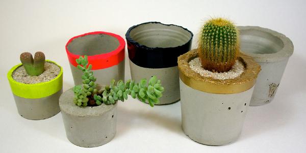 vaso de concreto rustico