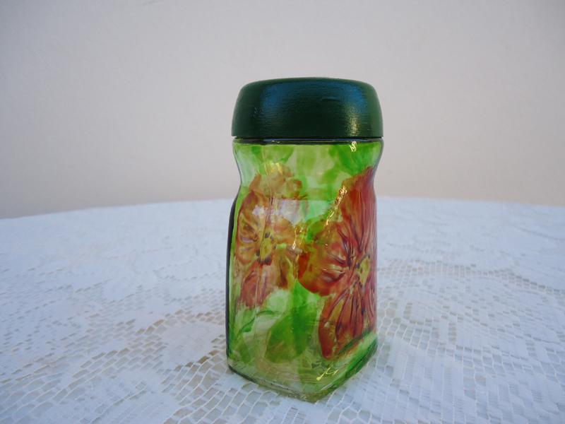 vidrinho com pintura com verniz vitral