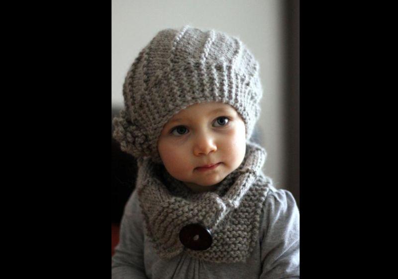 boina em tricô infantil