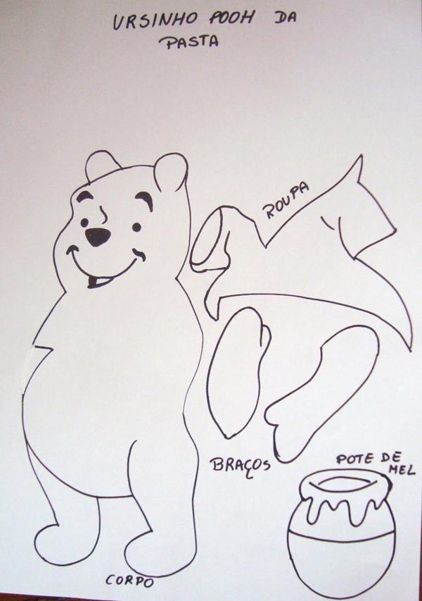 caderno com eva urso molde